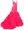 Dress Long mermaid pink cascading ruffle