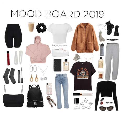best friend mood board , industrial fashion edition Outfit