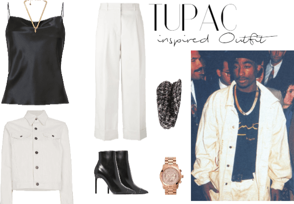 9119ee8e829df Tupac Shakur inspired Outfit  1 Outfit