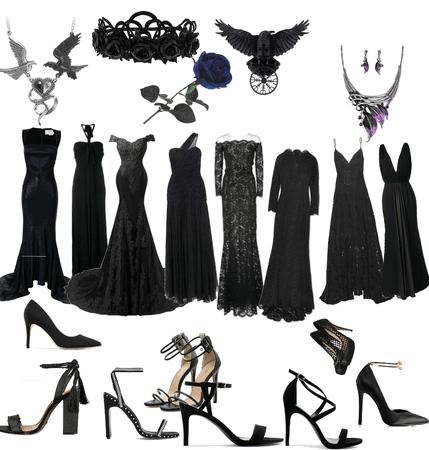 Luxurious Evening Heels , Black