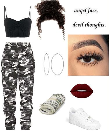 Camo Baddie Outfit Shoplook