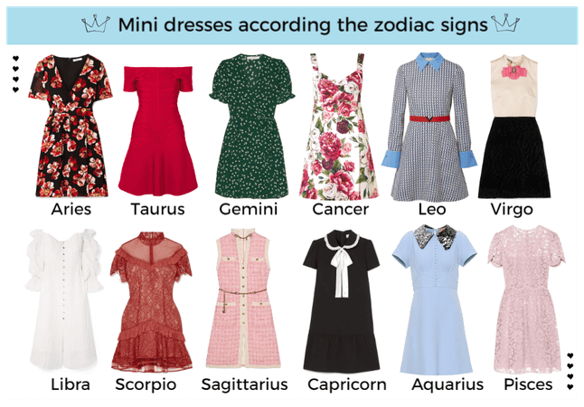 Zodiac signs as black dresses Outfit