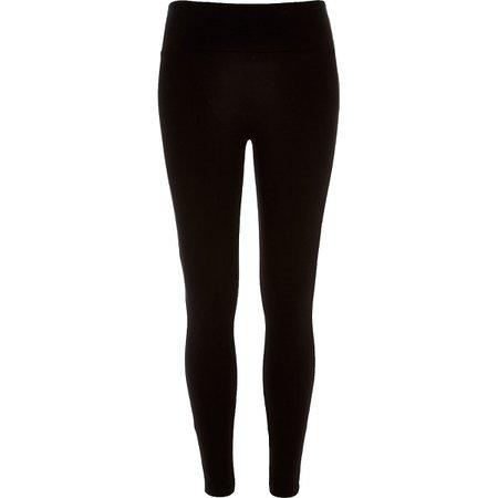 8d06814cc04ca Black high waisted leggings - Leggings - Pants - women