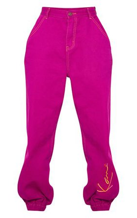 b5ff0c63ba Karl Kani Maroon Velour Joggers | Trousers | PrettyLittleThing ...
