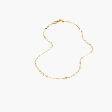 9e8cbe51f7d J.Crew Women's Demi-Fine 14K Gold-Plated Short Paper Clip Necklace ...