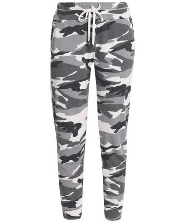 963d9db6060fe Lyst - Splendid Printed Jersey Track Pants in Gray
