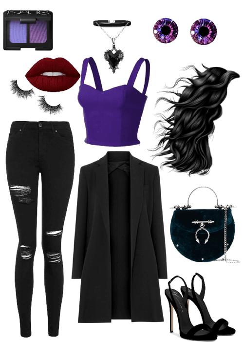 Maleficent Dark Fairy Black Purple Outfit Shoplook
