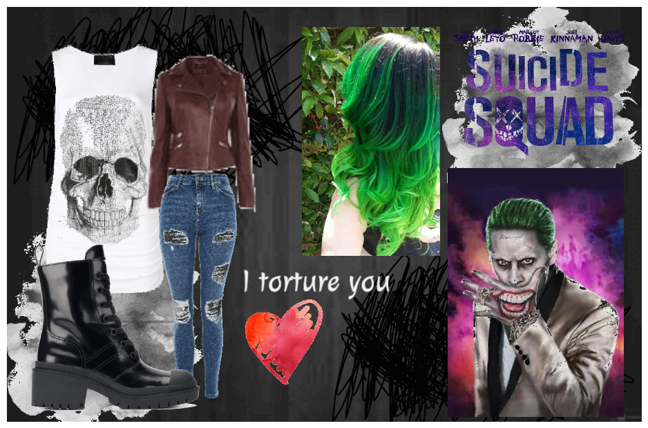 Joker Suicide Squad Female Version Outfit Shoplook