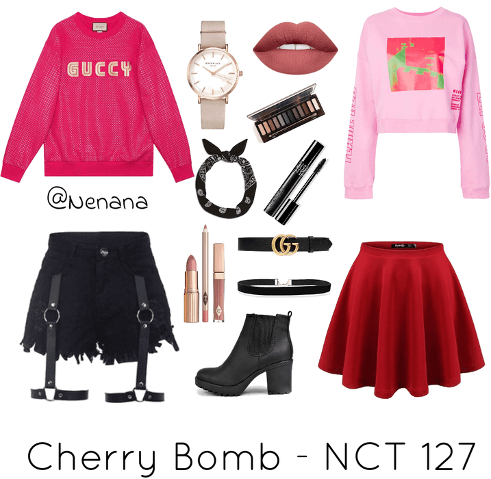 dd4154d3f Cherry Bomb - NCT 127 Inspired Outfit | ShopLook