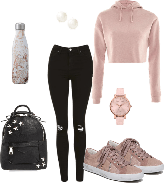 Pink and Casual School Outfit (Affordable) Outfit