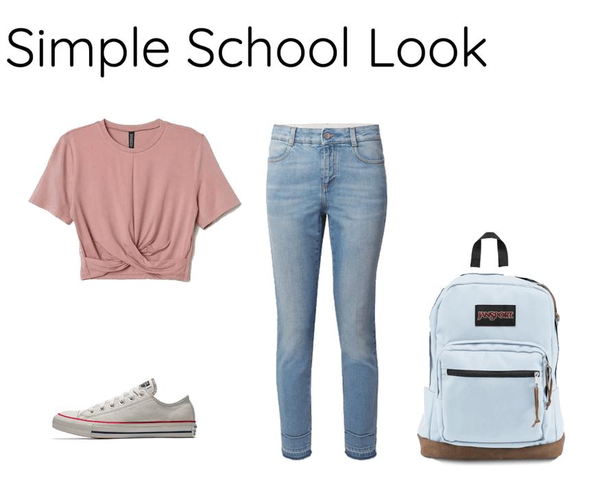 Simple School Look Outfit