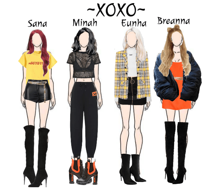 Girl Group Xoxo Playing With Fire Cover Bp Outfit