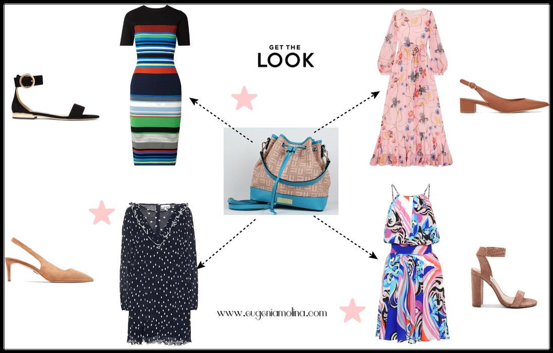 Cómo Lucir Nuestra Bolsa Turquesa con Vestidos Estampados
