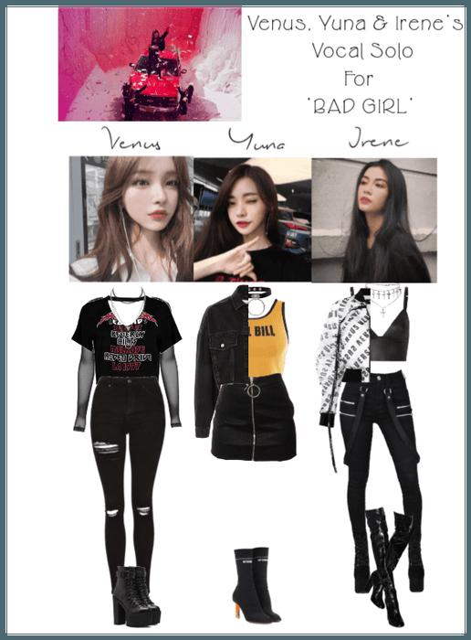 NIKITA  \u0027Bad Girl\u0027 Venus, Yuna \u0026 Irene Vocal Solo Outfit