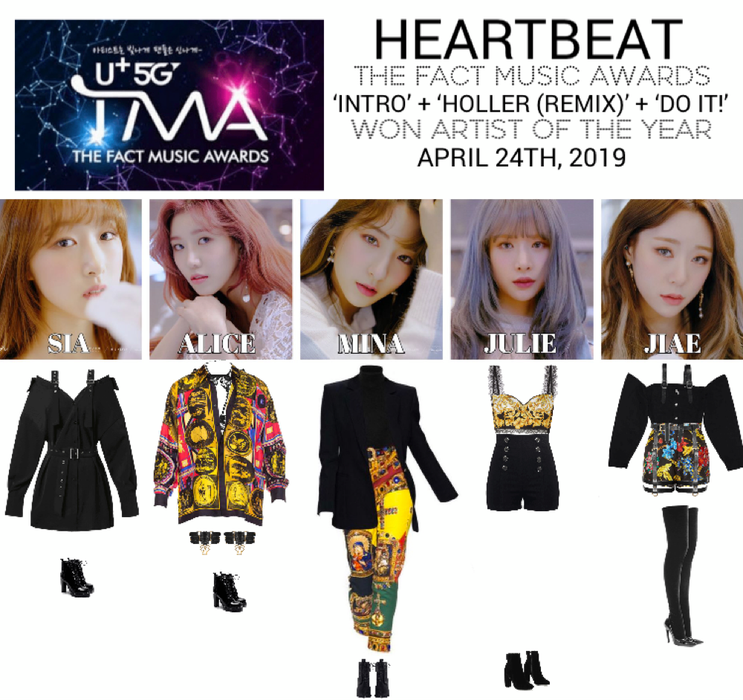 HEARTBEAT] THE FACT MUSIC AWARDS STAGE Outfit | ShopLook