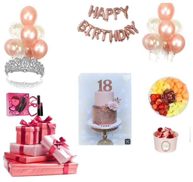 Astonishing Sweet 18 Birthday Party Outfit Shoplook Funny Birthday Cards Online Elaedamsfinfo