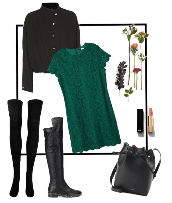 Meu Look Vestido Verde Musgo Outfit Shoplook