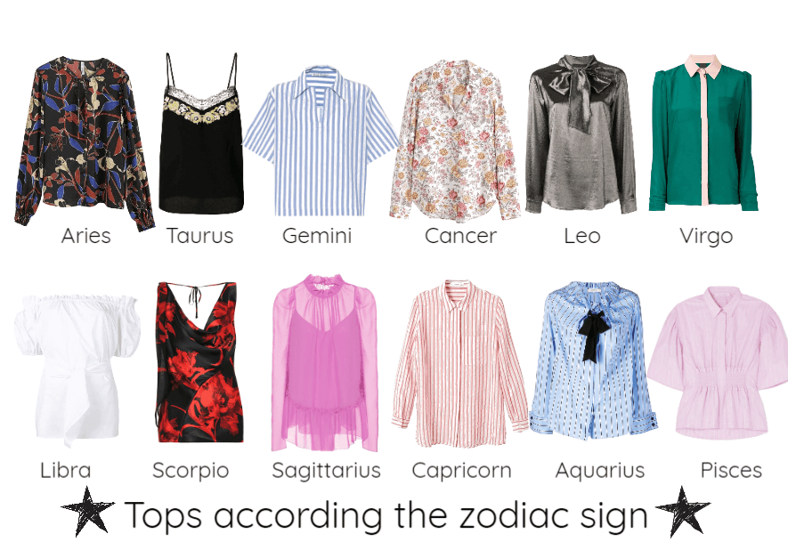 Tops according the zodiac sign Outfit
