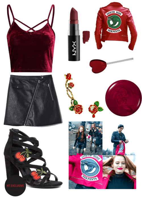 Cheryl Blossom Serpent Initiation Outfit Shoplook