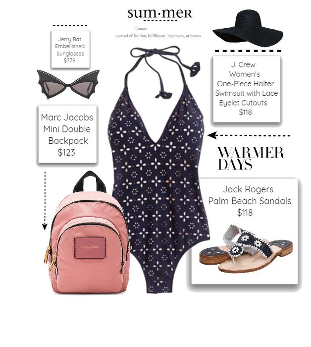 6ceb12553889b Broadway halter one-piece swimsuit. BUY. inspiration. Splurge -- It s  Summer!