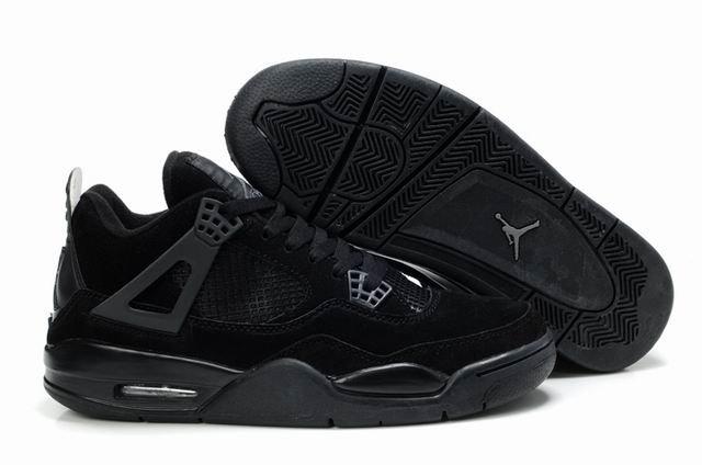 af2749098 nike air jordan 4 retro men shoes 43 all black