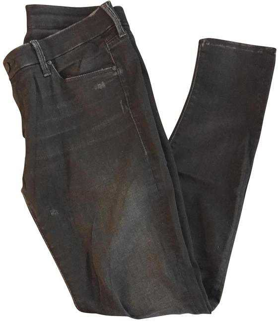 Mother Black Distressed The Looker Skinny Jeans Size 30 (6 c055445ba214