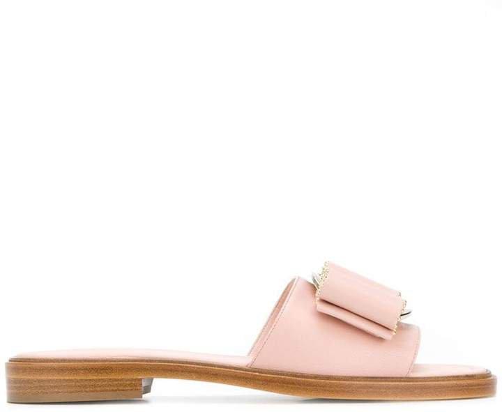 32df6984aaa7 studded Vara bow slide sandals. 3. studded Vara bow slide sandals. salvatore  ferragamo