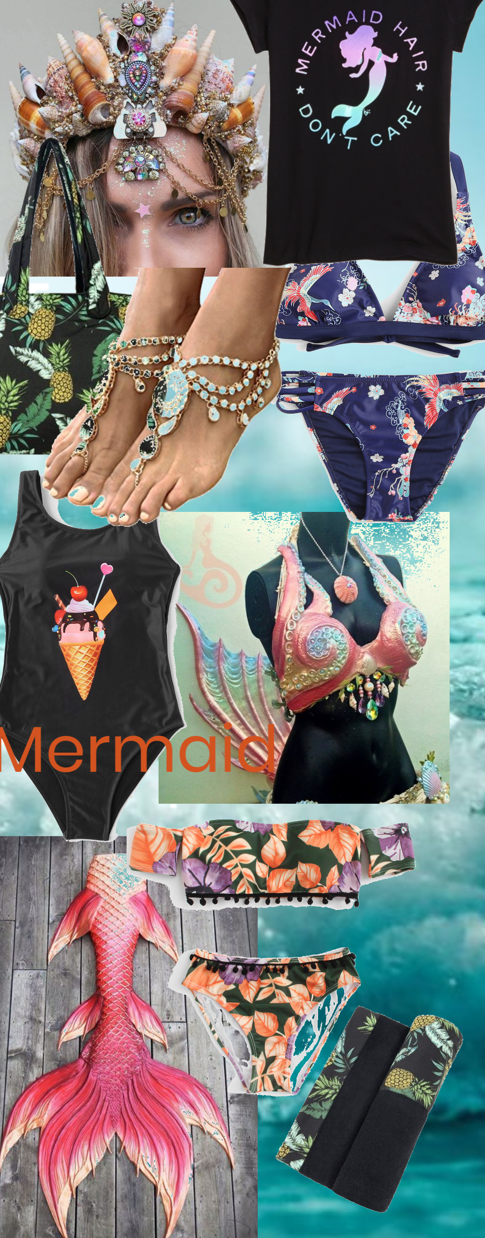 # Swimsuit Be A Mermaid