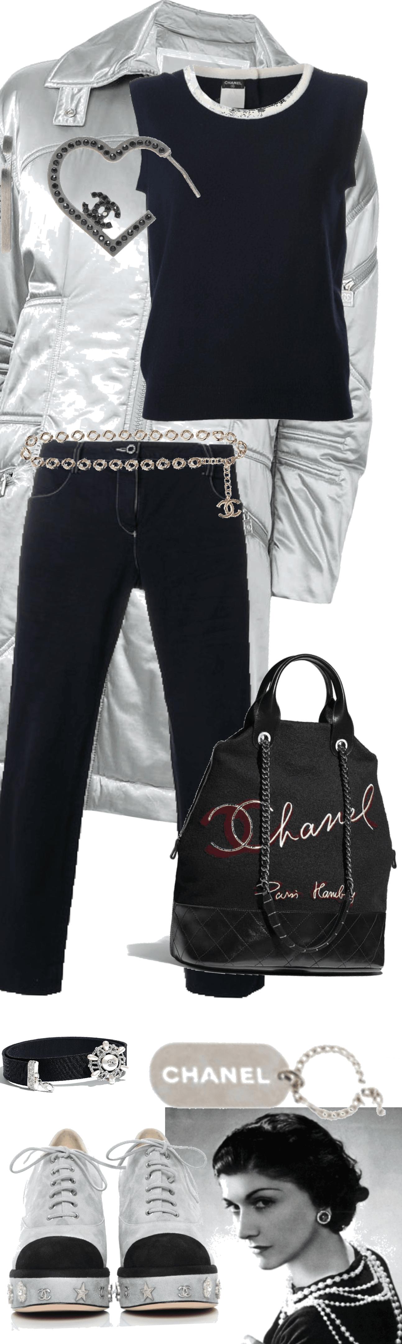 Silver & Black Chanel