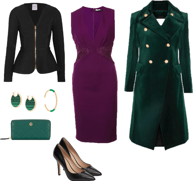 Purple & Green Outfit