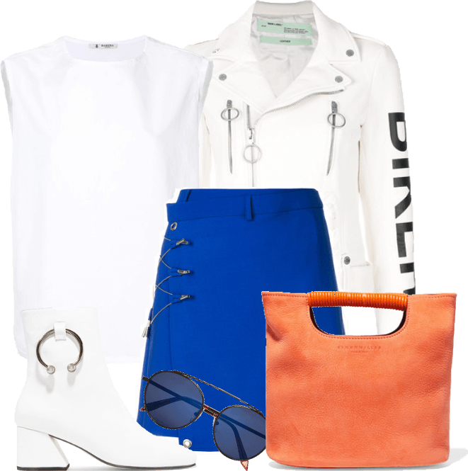 White, orange and blue!