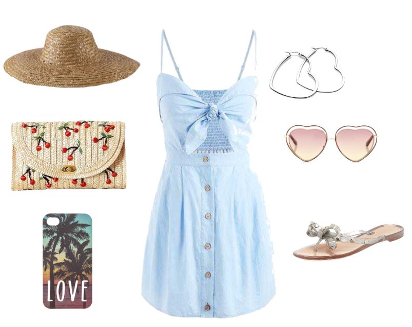Denim Summer Bohemian Beach Dress