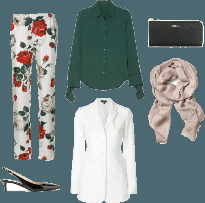 Floral Hijabi Business Wear