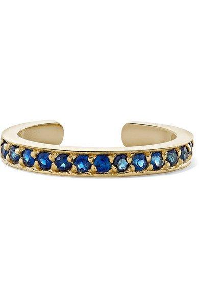 Anita Ko | 18-karat gold sapphire ear cuff | NET-A-PORTER.COM