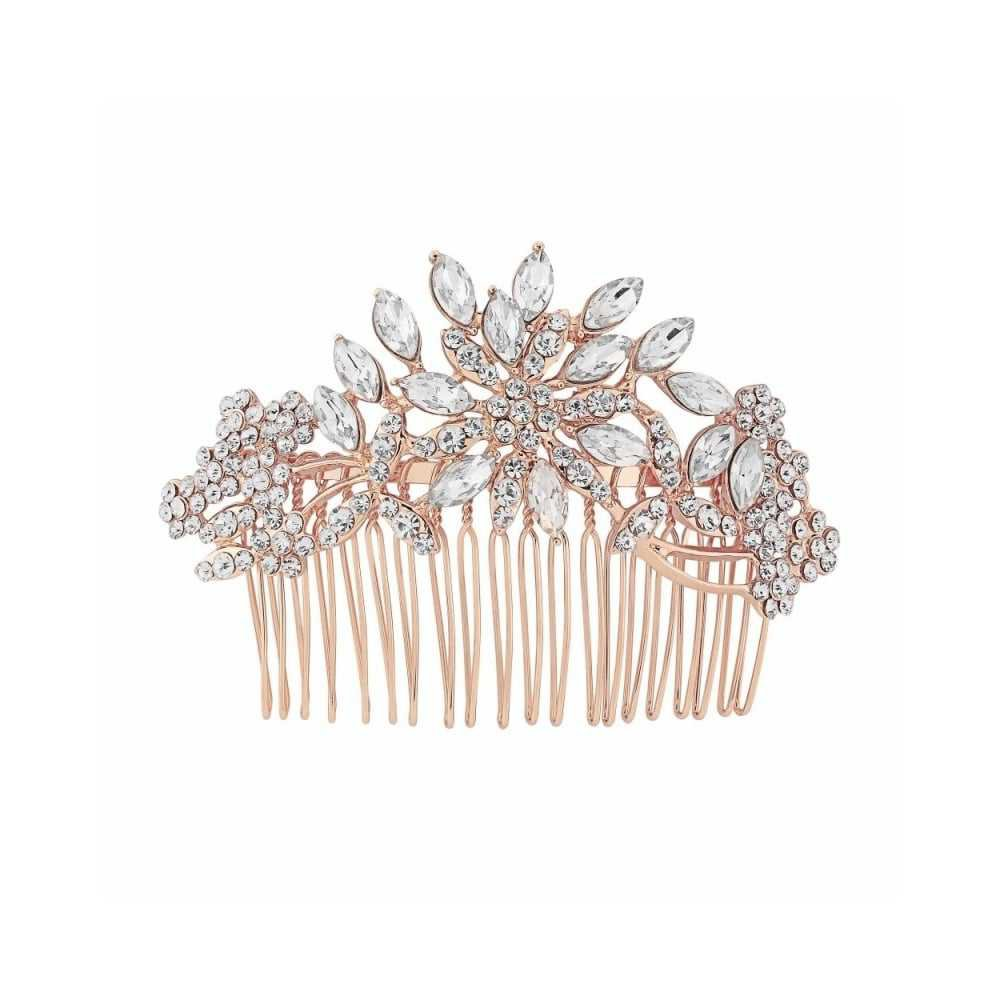 rose gold hair comb - Google Search