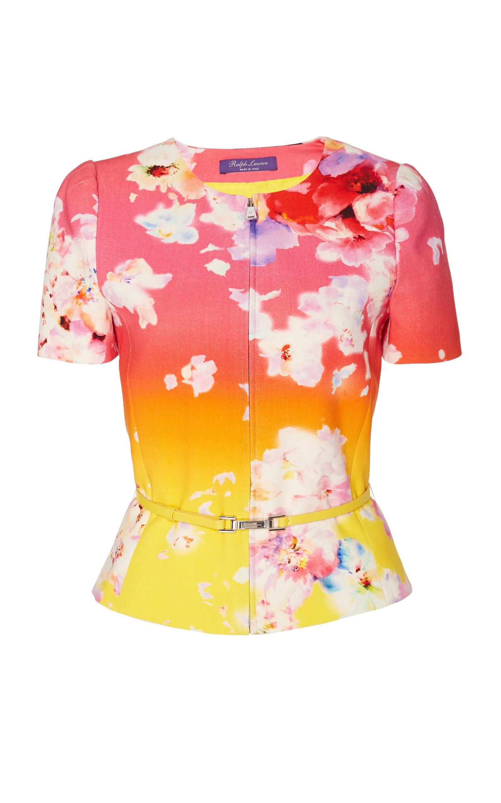 Ralph Lauren Azalea Floral Wool-Blend Jacket