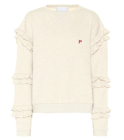 Ruffle-trimmed sweatshirt
