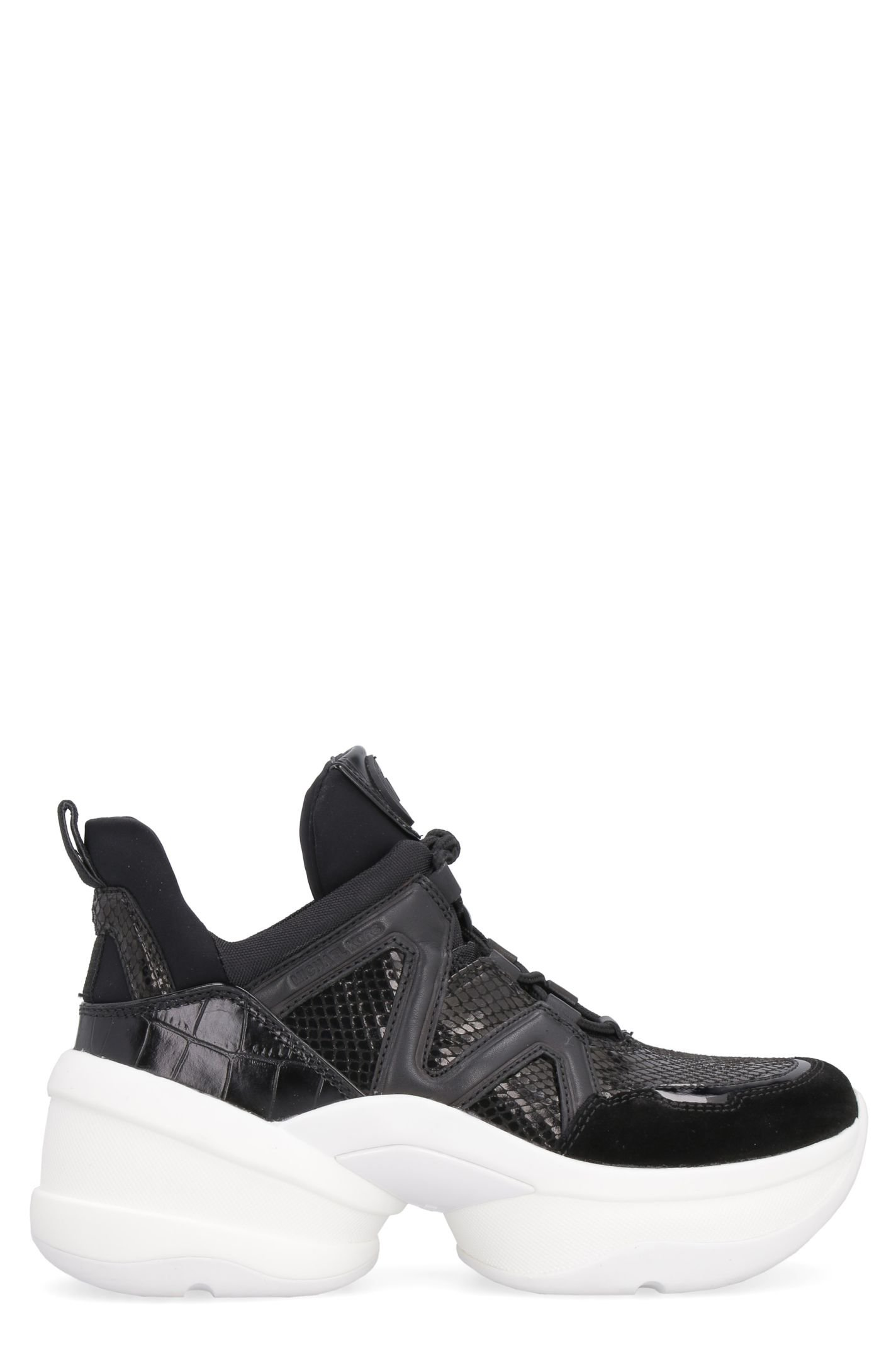 Michael Kors Olympia Techno-fabric And Leather Sneakers