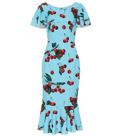 Exclusive to Mytheresa – cherry printed midi dress