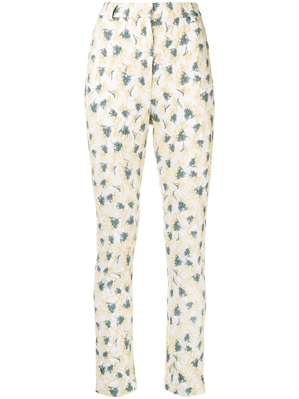 Sonia Rykiel high waisted textured patterned trousers