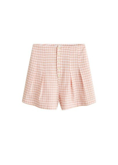 MANGO Buttoned cotton shorts