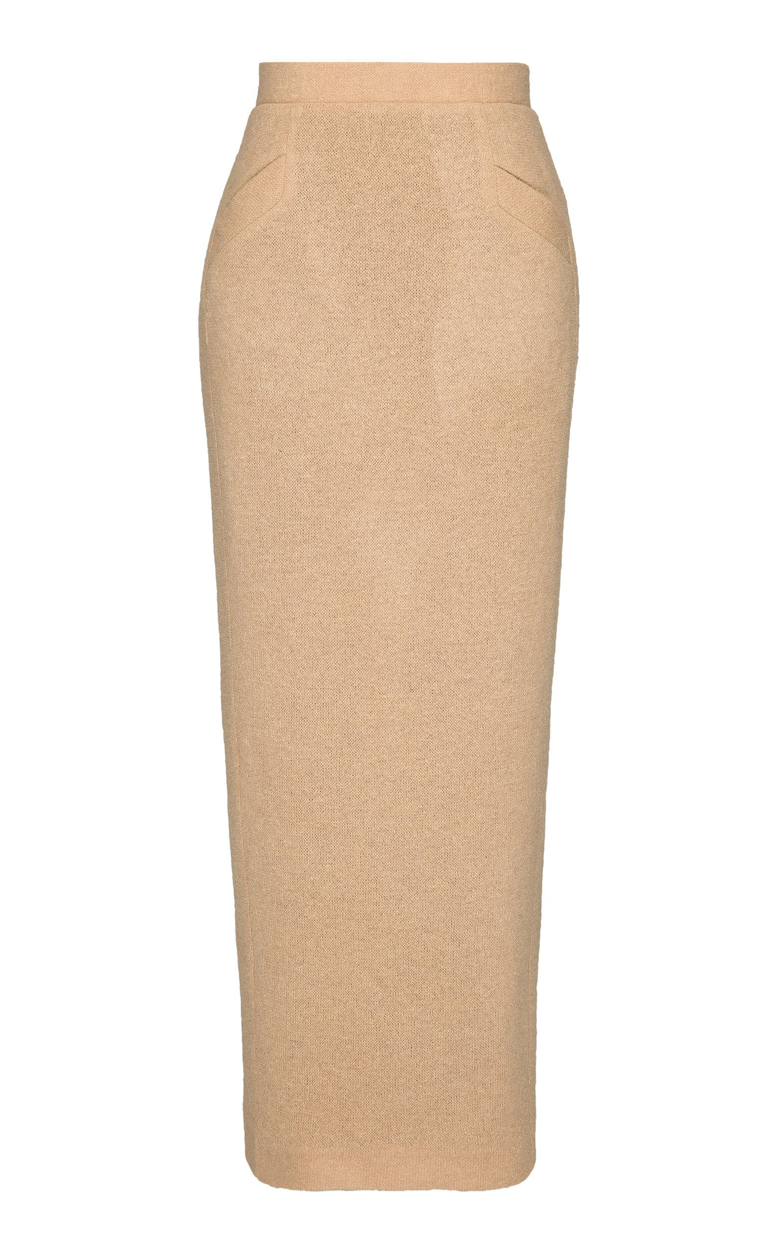SITUATIONIST High-Rise Wool Maxi Skirt