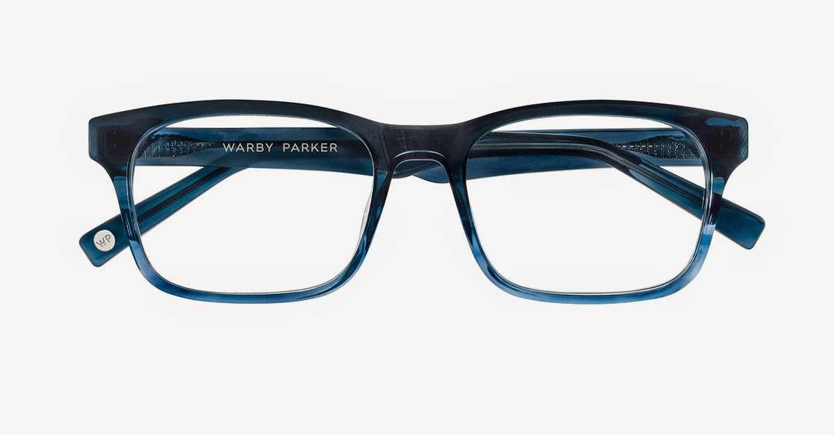 warby parker blue glasses