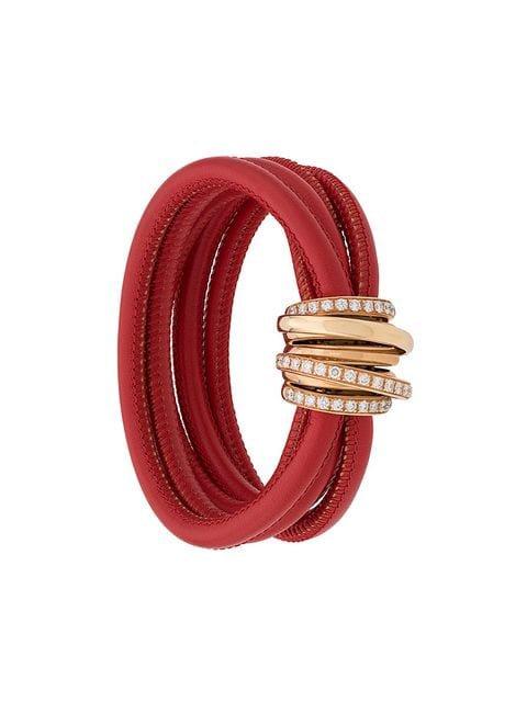 De Grisogono 18kt Rose Gold And Diamond Allegra Bracelet - Farfetch