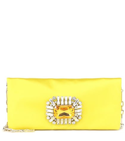 Titania satin clutch