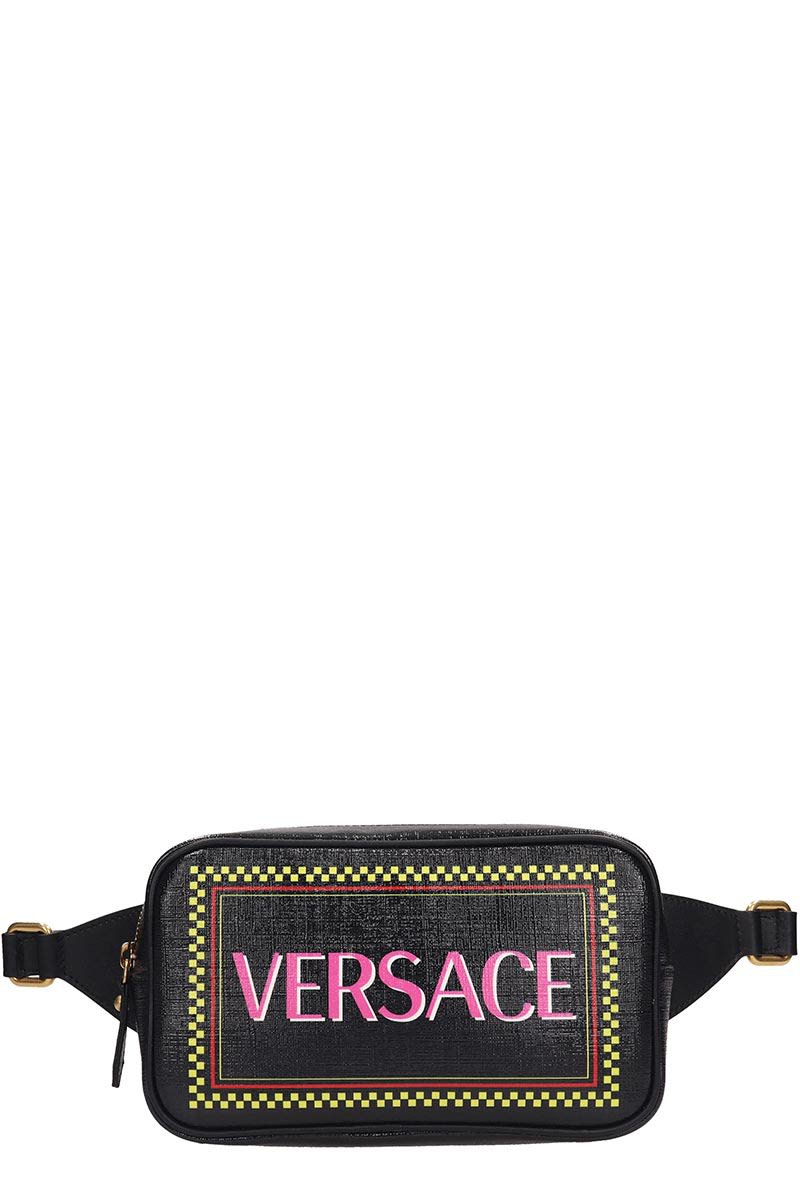 Versace Black Leather Baby Carrier