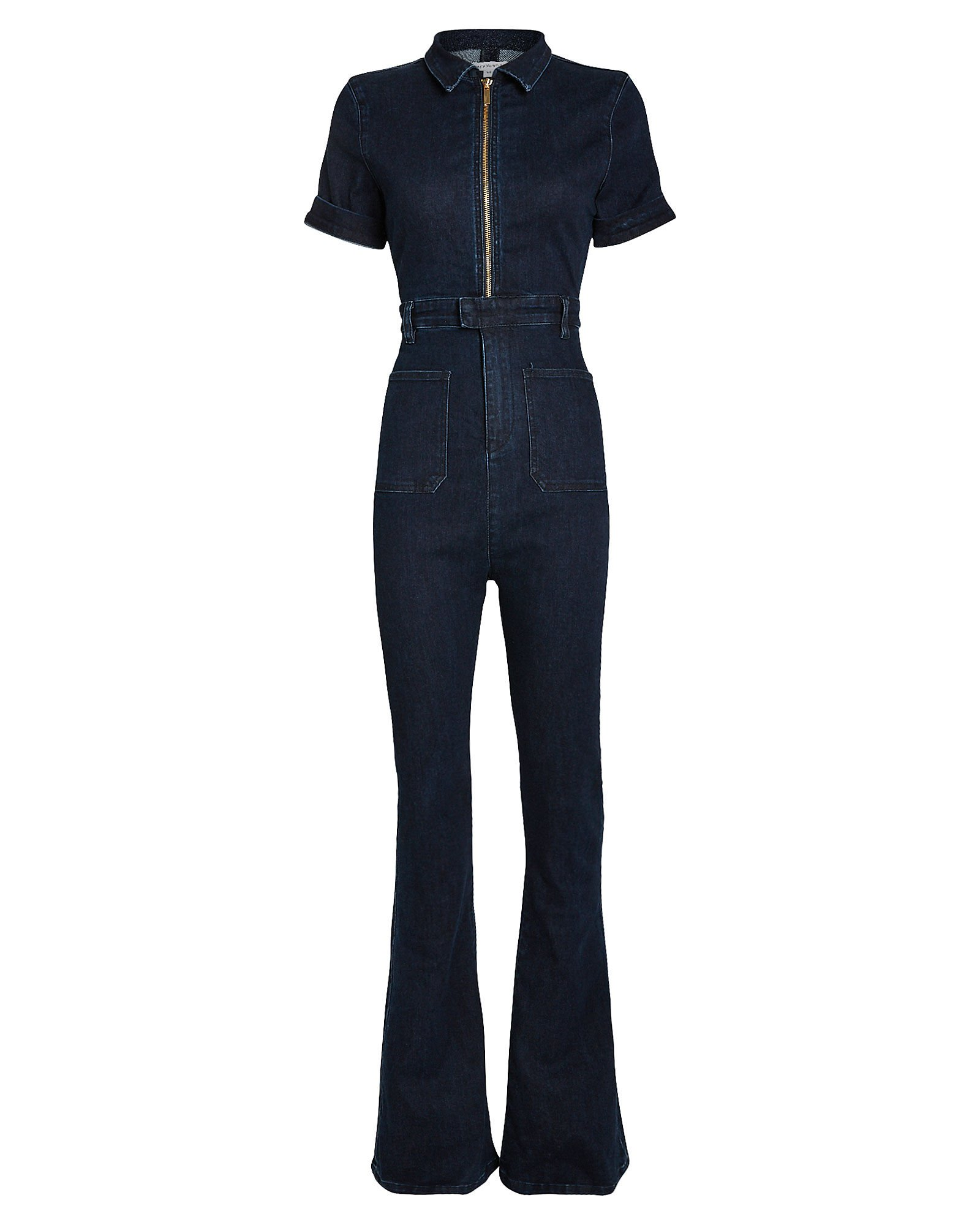 The Dark Wash Denim Jumpsuit