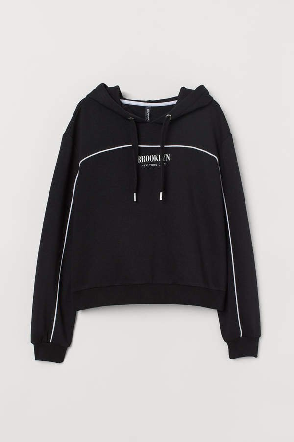 Short Hooded Sweatshirt - Black