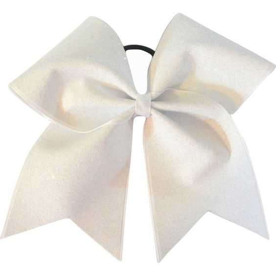 White Glitter Cheer Bow Cheerleading Bow