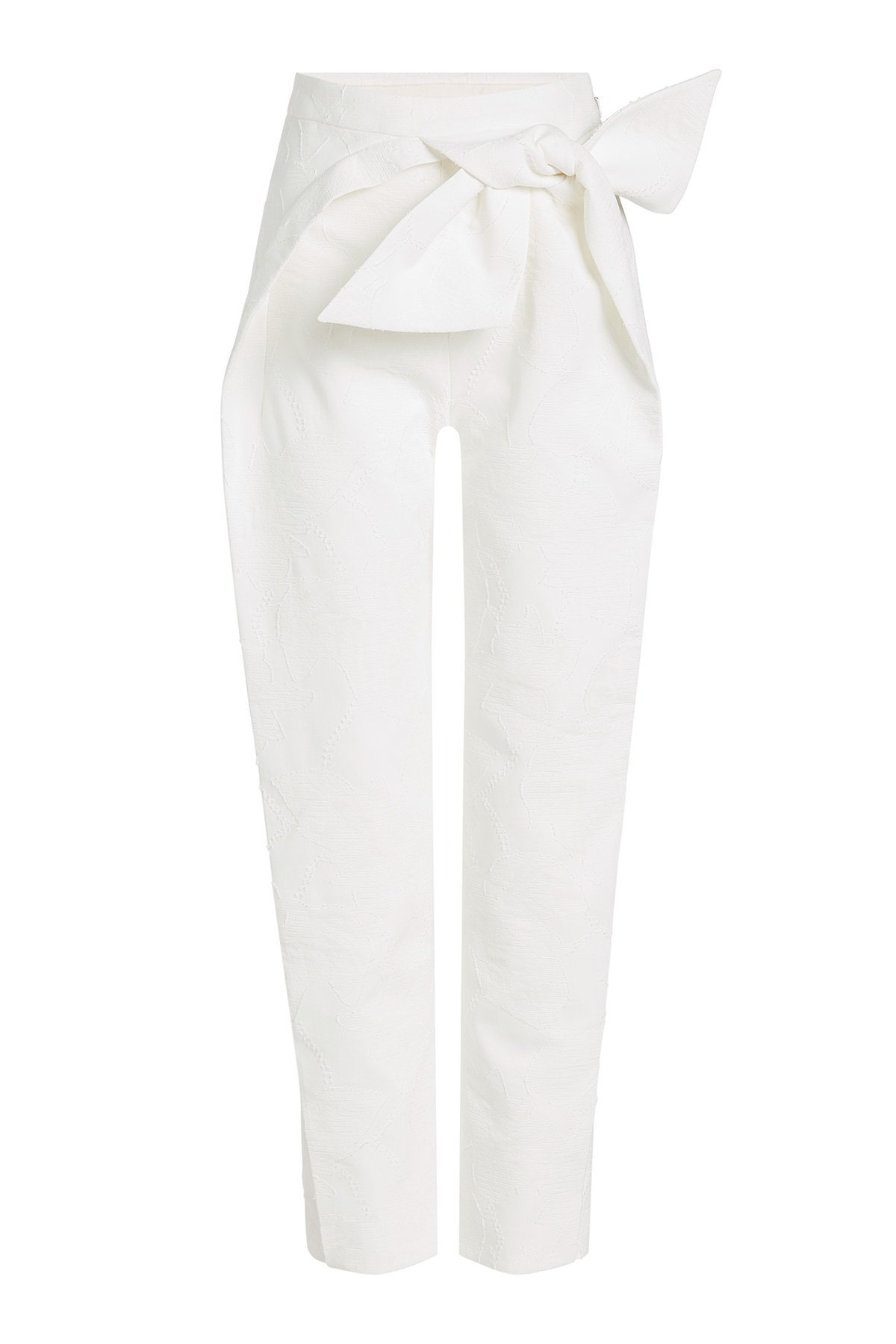Bow-Front Cotton Trousers Gr. FR 40